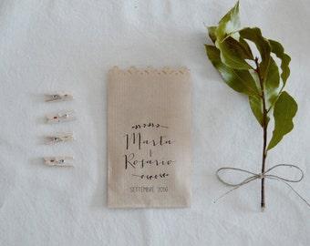 Kit 10 sacchetti AVANA per confettata personalizzati