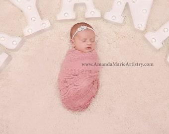 Stunning Rhinestone Baby Headband Super Soft Jeweled Nylon Baby Toddler Headband Different Colors Available