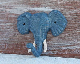 Elephant Hook, Woodland Animal Hook, Elephant Wall Hook, Safari Jungle Bedroom Bathroom Decor, Towel Holder, Key Hook, Elephant Decor