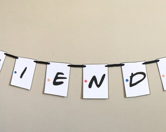 Friends TV Show Themed Party Banner