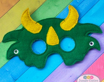 Triceratops Mask (M013), Toddler's Mask for Dress-Up, Party Favors