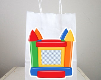 Bounce House Goody Bags, Bounce House Favor Bags, Bounce House Gift Bags