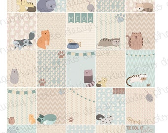 Rescue Cats 2-in-1 Boxes/Stickers for EC Planners (PRINTABLE)