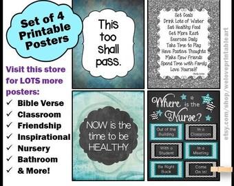 Gift for School Nurse, Nurse Appreciation Gift, School Nurse Decor, School Nurse Office Sign, Office Decor, School Nurse, Wall Art