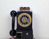 Vintage Ideal 1950s Toy Telephone Bank Talking Telephone Toy 1950s Ideal Plastic Wall Mount Vintage Telephone Bank Toy Ideal Company 1950s