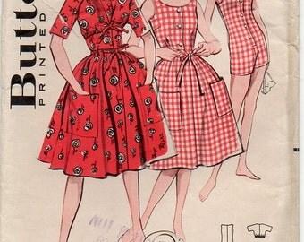Vintage Beachwear Playsuit Set Pattern ~ Sunsuit, Skirt & Bolero ~ Bust 32 ~ Butterick 9020