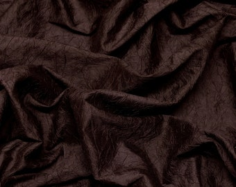 "Garnet Red Crushed Shantung Dupioni 100% Silk Fabric, 52"" Wide, By The Yard (SM-403)"