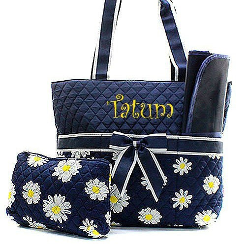 baby girl diaper bag monogrammed daisy diaper bag diaper bag. Black Bedroom Furniture Sets. Home Design Ideas