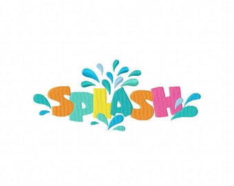 Splash! Machine Embroidery Design Multiple Formats Available - Instant Download