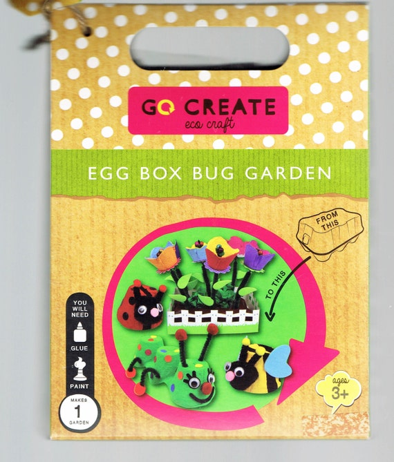 Children 39 s eco craft recycled egg box bug garden kit for Design your own egg boxes