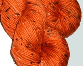 HAND DYED DONEGAL dk merino donegal nep blend, 225 meters, burnt umber colourway. 100g per skein
