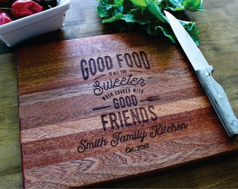 Personalized Cutting Board, Gift For Her, Christmas, Custom Family Name, Wedding Gift, Anniversary Gift, Birthday, Housewarming, Wall Sign
