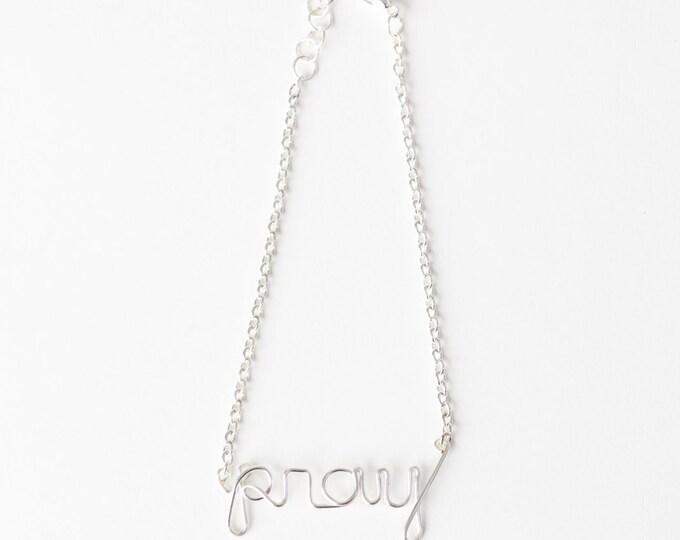 Pray Bracelet (Silver)