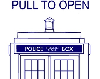 Doctor Who Tardis Bookmarker