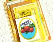 Yellow Ephemera Pack. Paper Pack. Vintage Ephemera. Journal Supply. Junk Journal Paper. Scrapbook Ephemera. Embellishment Kit. Vintage Paper