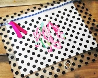 Monogram Pencil Case - Monogram Pencil Box - Back to School - Pencil Holder - Crayon - Marker - College Gift - Lilly Pulitzer Monogram