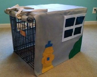 Custom Dog Crate Playhouse Cover