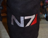 Dice Bag custom Embroidery Black suede Mass Effect