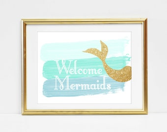 mermaid party,under the sea birthday, mermaid party package, under the sea party decorations,mermaid welcome sign, mermaid party decorations