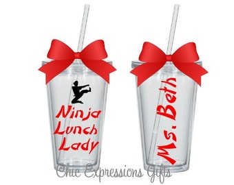 Ninja Lunch Lady tumbler - available in 4 sizes