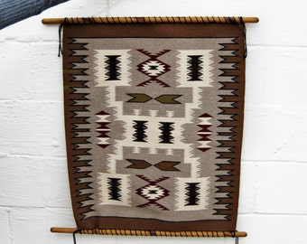 Vintage Tribal Southwest Navajo Woven Wall Hanging