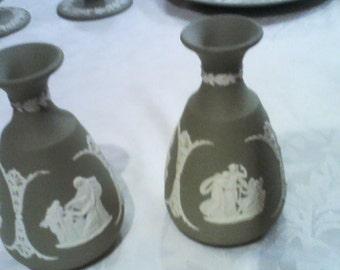 Wedgewood Jasperware bud vases