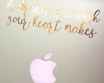 Gold foil Disney Inspired Quote Decal