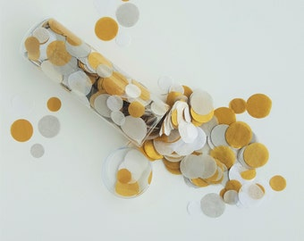 1 oz. Hand-Cut Confetti - REGAL table decoration / party confetti / confetti toss / rainbow decorations / wedding decoration