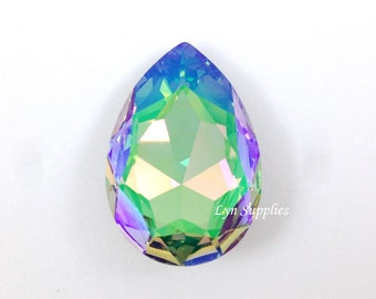 4327 PARADISE SHINE 30x20mm Swarovski Crystal Teardrop Pear Faceted Fancy Stone No Hole