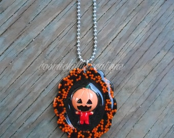Pumpkin Man Necklace