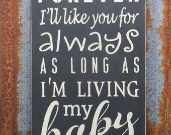 I'll love you forever -Handmade Wood Sign