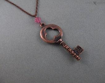 Copper Blessed Key Pendant