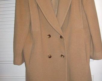 Vintage Caramel  100% Wool Luscious Wonderful Coat Size 14  by Karen