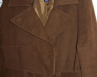 Vintage Gap Dark Brown Women's Trenchcoat, All Neat Features Size XL JUST REDUCED
