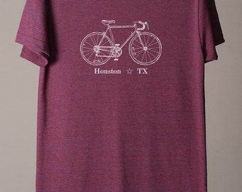 Houston bike tee, Houston t-shirt, Houston Texas tee, Texas t-shirt, Houston cycling