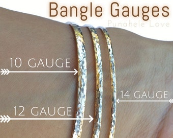 Upgrade your bangles to a thicker 12 OR 10 gauge - 12 gauge bangles - 10 gauge bangles
