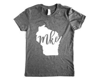 Milwaukee Kids Shirt // MKE // Wisconsin Shirt // Milwaukee Gift // Wisconsin Gift // Milwaukee Shirt // The Busy Bee