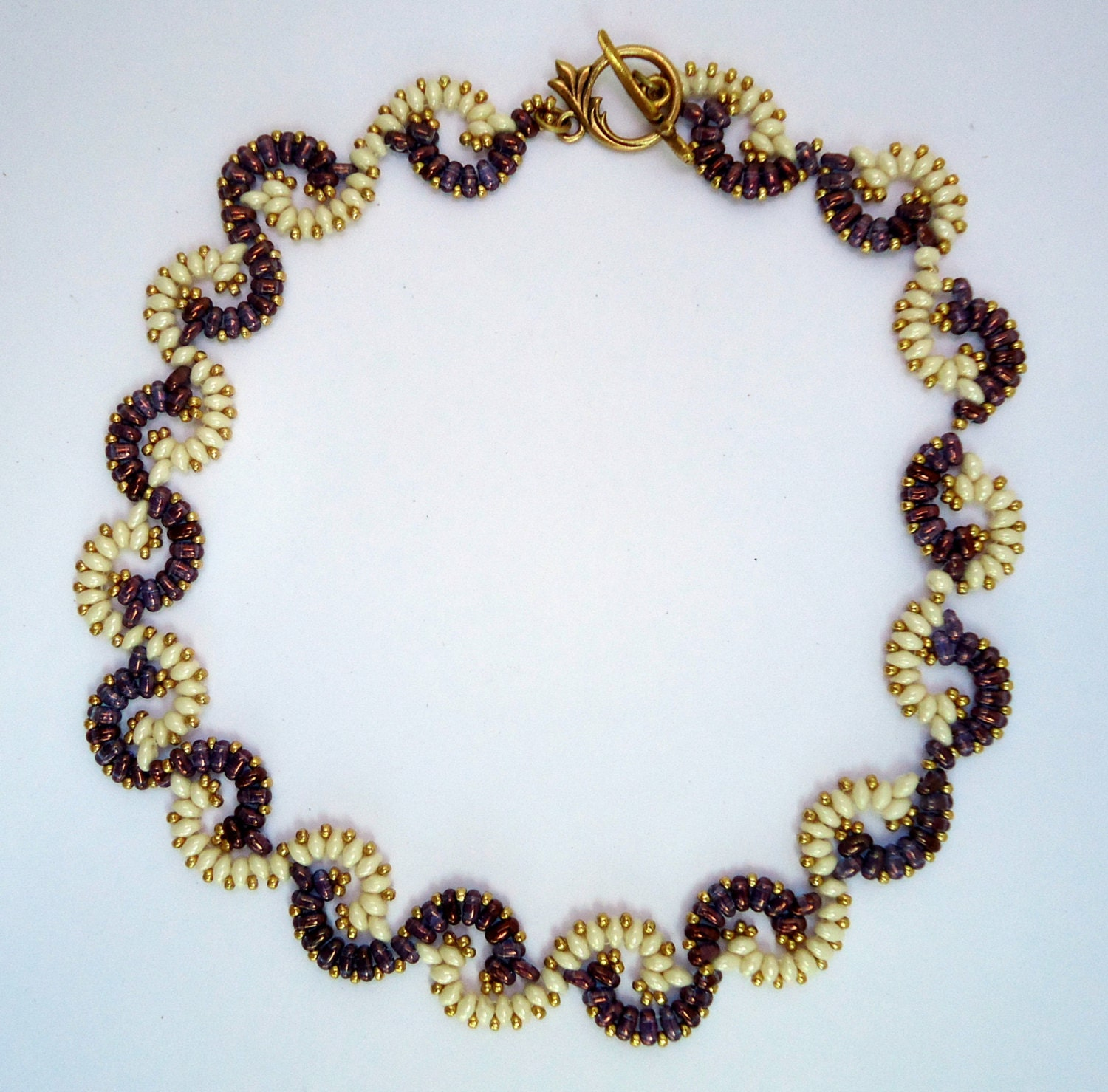 beaded necklace choker necklacetwisted pattern
