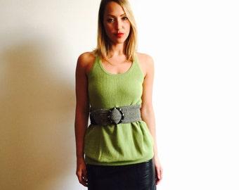 Chartreuse Cashmere Jumper Tunic