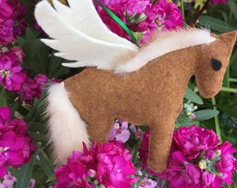 Horse Angel Ornament, Pet Memorial, Chestnut Horse, Birthday Gift, Horse Lovers Gift, Fathers Day
