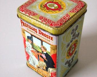 Vintage Dutch Droste Cacao Tin