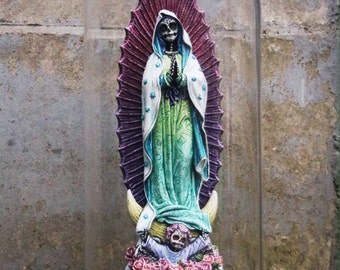 "muertify: ""guadalupe"" muertos holy Mary statue, custom and expertly handpainted"
