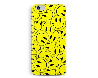 SMILEY FACE iPhone Case, 90s Rave, Cool iPhone 5c Case, Hard Plastic iPhone 5c case, RAVE iPhone Cover, colorful cell case, 90s grunge case