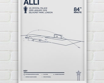 Dele Alli vs Crystal Palace Giclee Print -- [94]