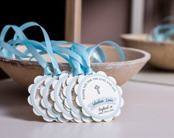 First Communion Favors Baptism Favor Tags Baby Boy Baptism Christening Favor First Communion Favor CUSTOM First Communion Favors