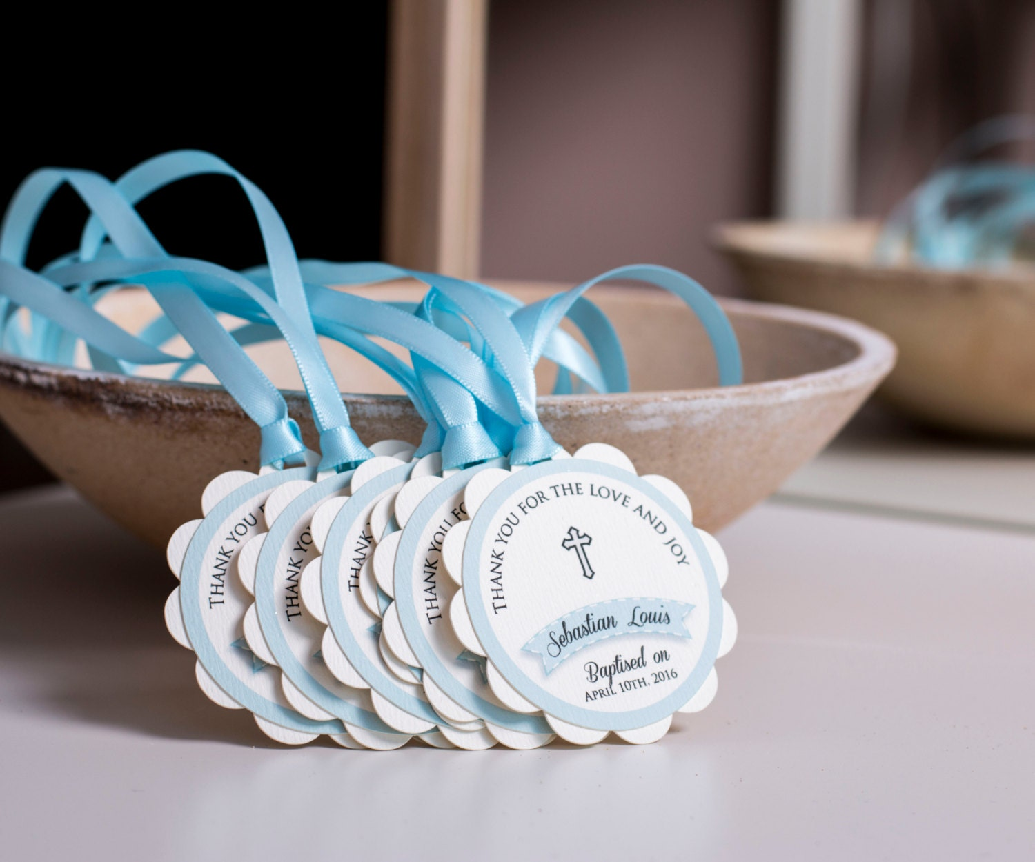 First munion Favors Baptism Favor Tags Baby Boy Baptism