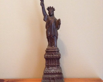 Statue Of Liberty, Cast Metal Statue, Vintage Souvenir Statue Of Liberty,