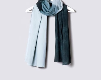 SALE!! Dip-Dyed Scarf. Winter Scarves. Cotton Scarf. Unique Handmade Scarves. Fashion Scarves.