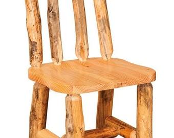 Rustic Pine Log Side Chair