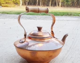 Vintage Copper Tea Kettle - Portugal